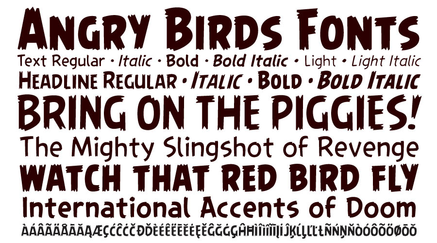angry birds fonts 2010 comicraft comicraft